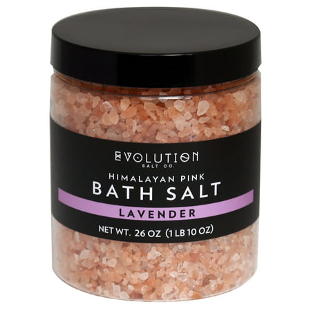 Evolution Salt Co Himalayan Bath Salt Coarse Grind, Lavender, 26 Oz Pink Himalayan Bath Salts