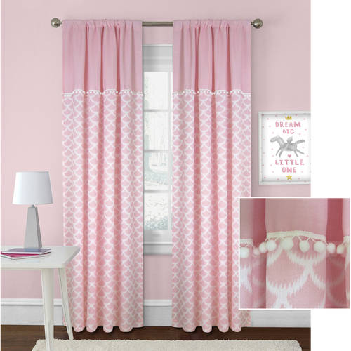 Better Homes & Gardens Scallops with Poms Curtain Panel