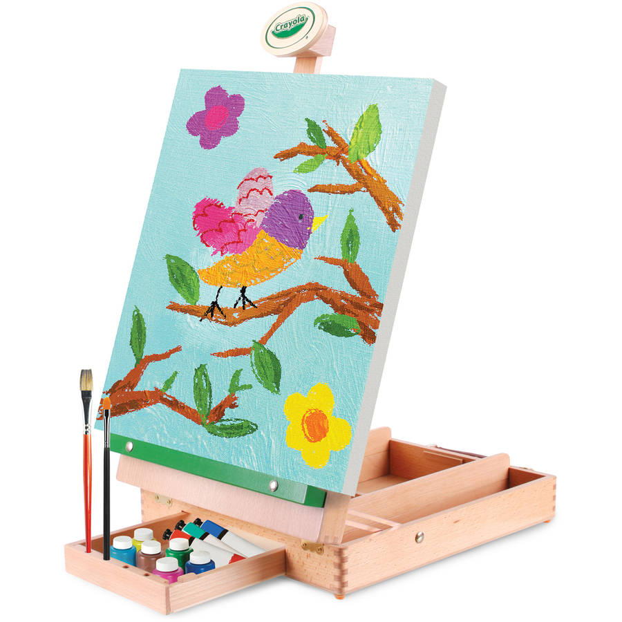 Crayola Wood Classic Traveling Studio Art Easel by