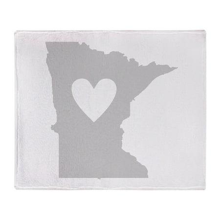 "CafePress - Heart Minnesota - Soft Fleece Throw Blanket, 50""x60"" Stadium Blanket"