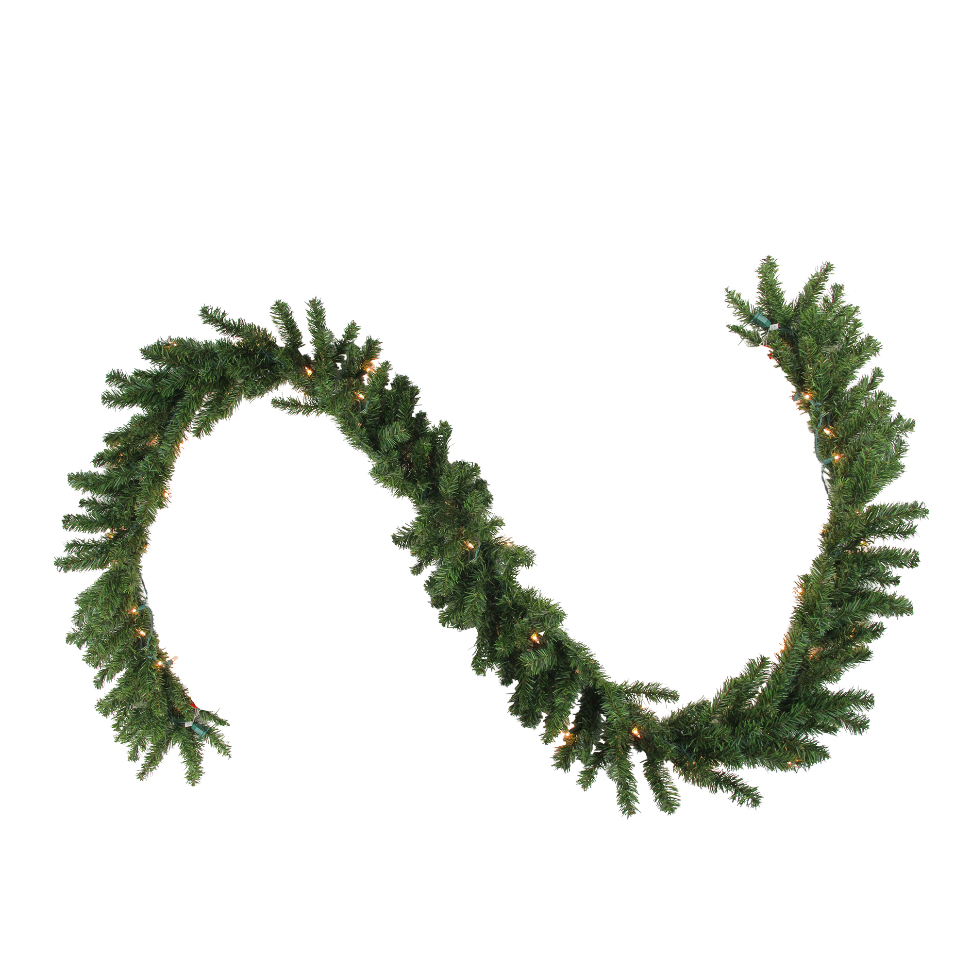 "Northlight 50' x 10"" Prelit Canadian Pine Commercial Artificial Christmas Garland - Clear Lights"