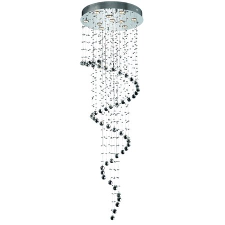 2024 Galaxy Collection Chandelier D:24in H:72in Lt:10 Chrome Finish (Elegant Cut Crystals)