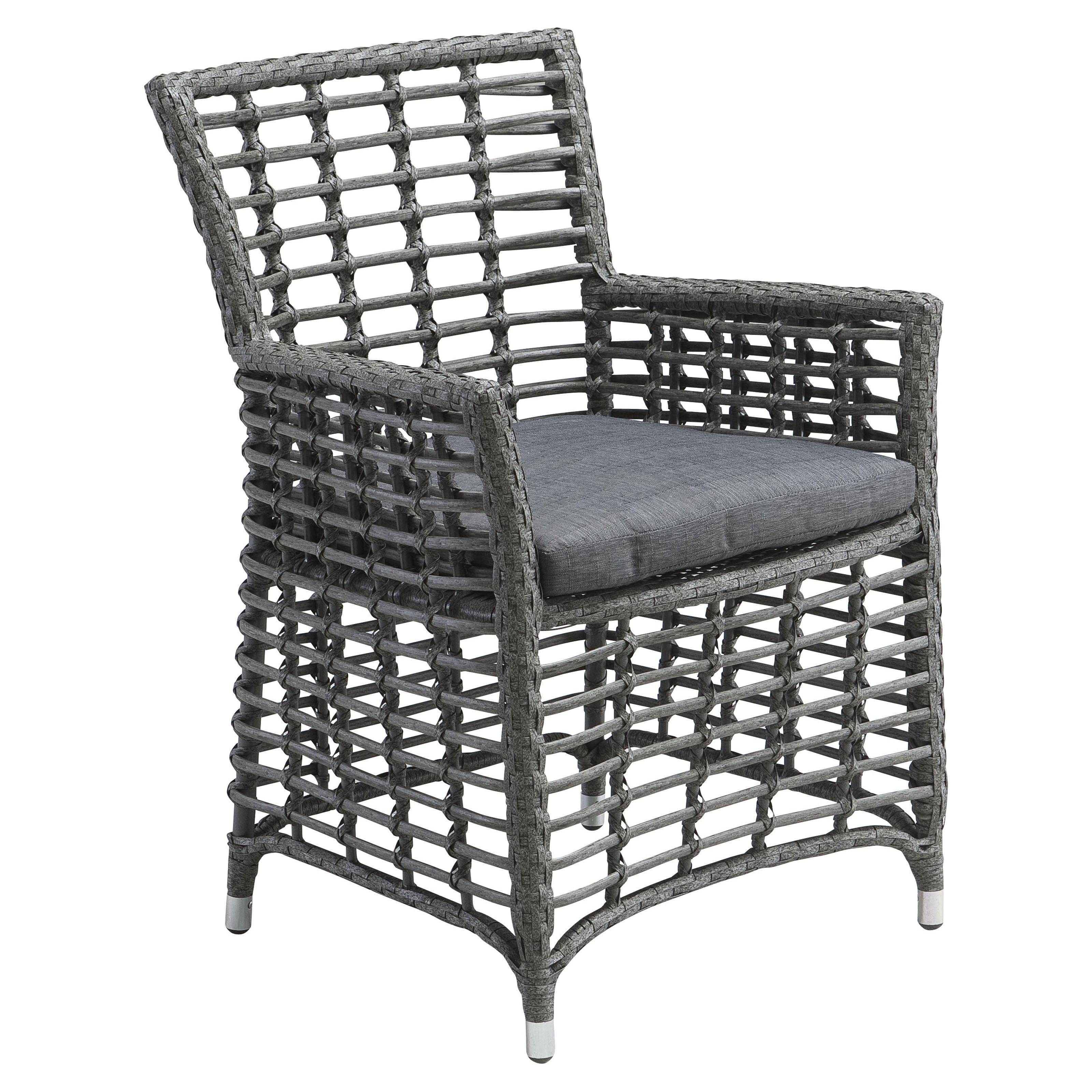 Zuo Vive Sandbanks Aluminum Dining Chair Gray Walmart Com