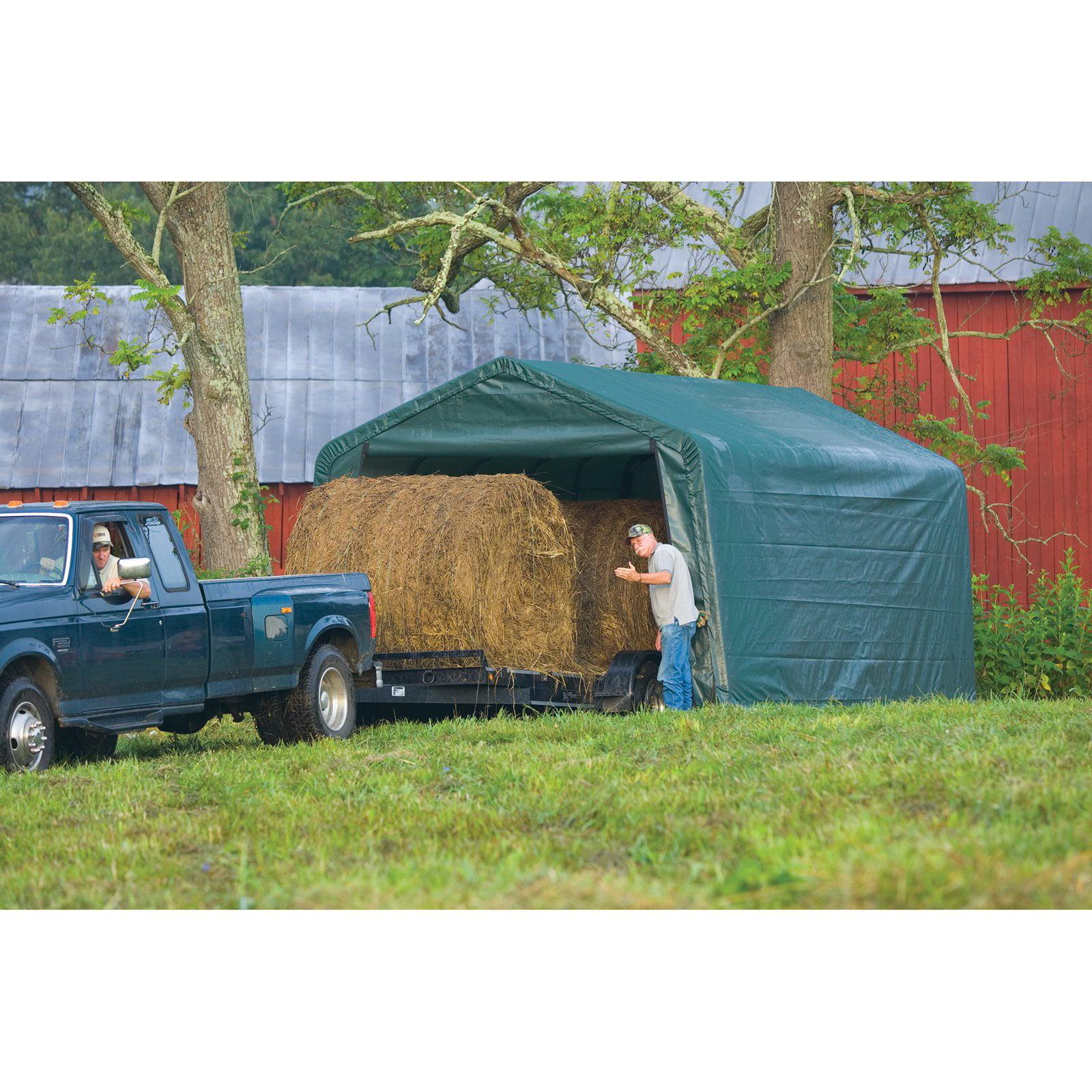 Shelterlogic Equine Storage Shelter Peak-Style, 12' x 20' x 8' by ShelterLogic