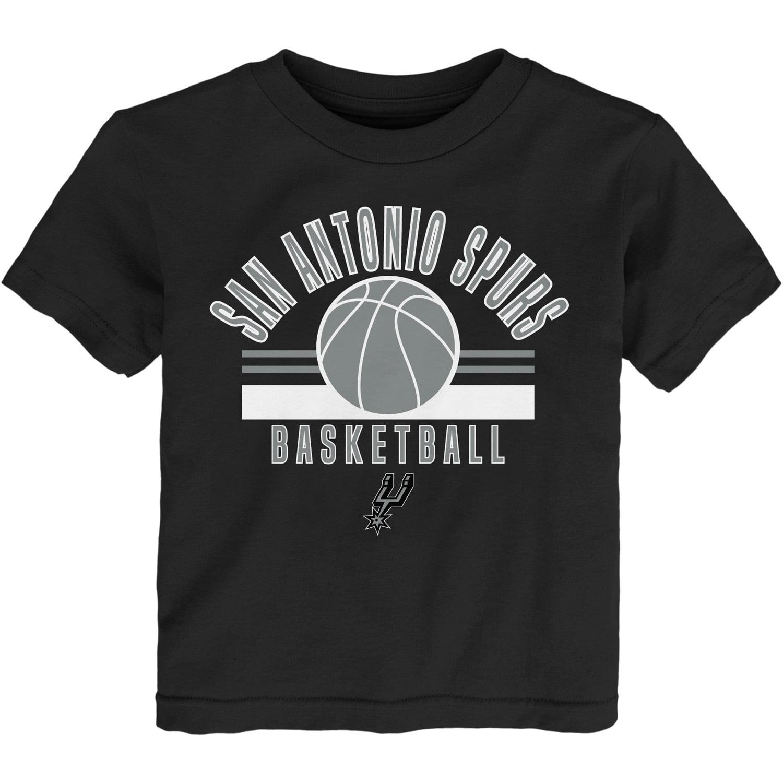 Newborn & Infant Black San Antonio Spurs Short Sleeve T-Shirt