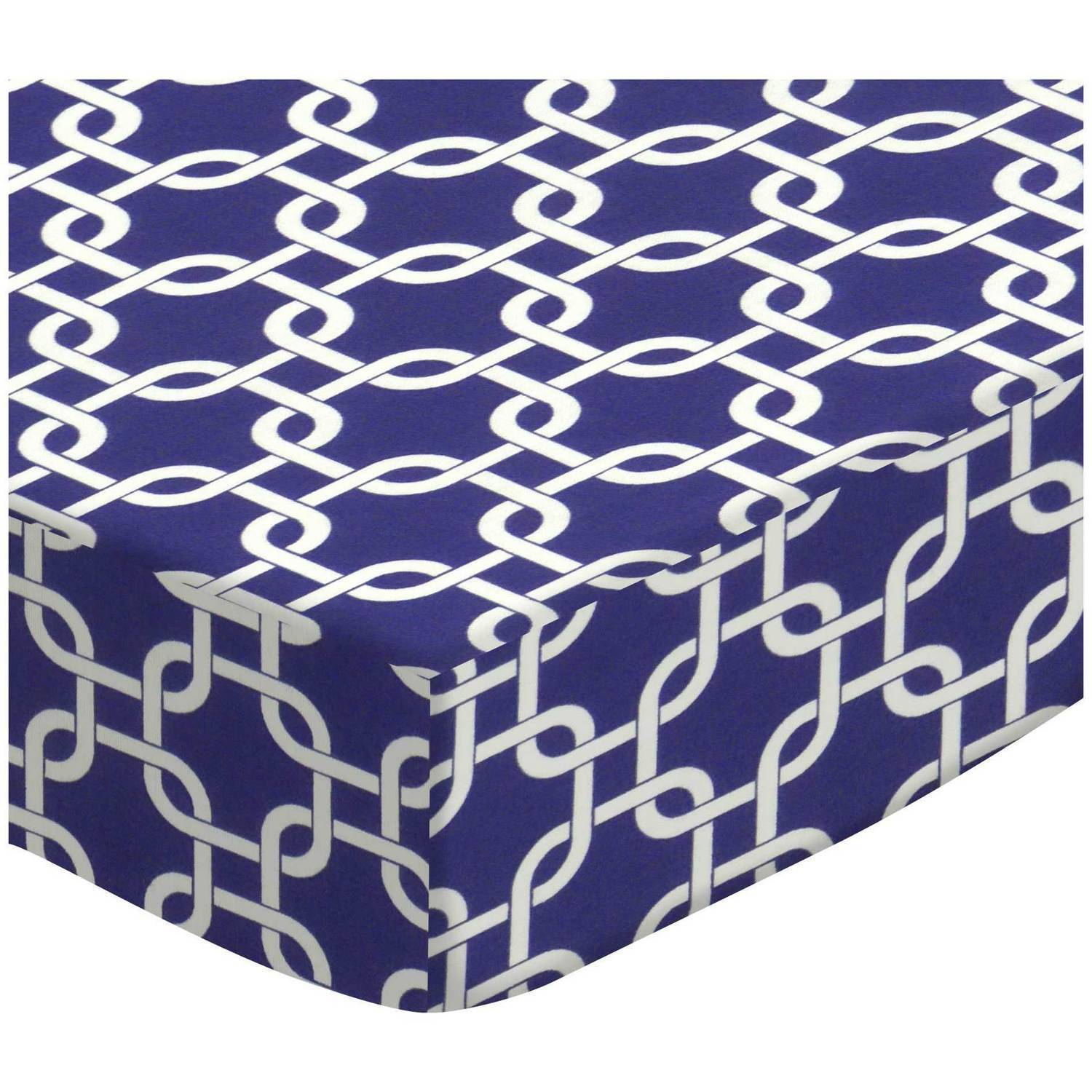 SheetWorld Fitted Fitted Oval Crib Sheet (Stokke Sleepi) - Purple Links