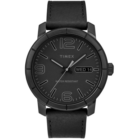 Men's Mod 44 Black Watch, Leather Strap