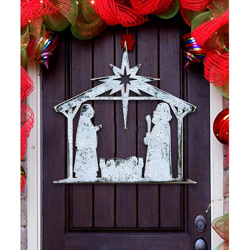 The Holiday Aisle Rising Star Nativity Door Hanger
