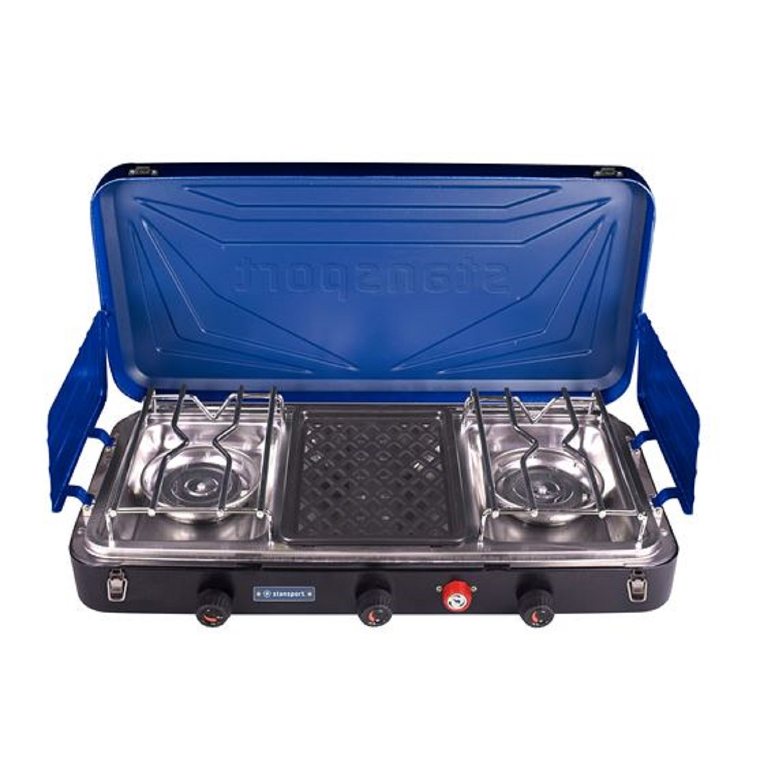 Stansport Outfitter Series 2-Burner and Grill Propane Stove by Stansport