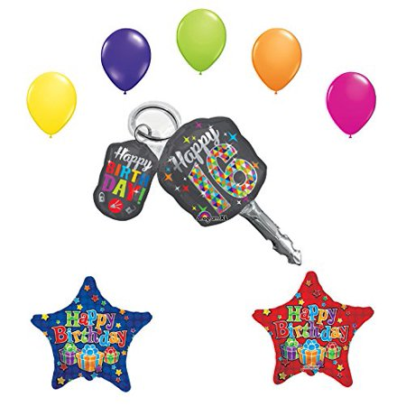 Sweet 16 Birthday Party Supplies Balloon Bouquet Car Keys Decoration