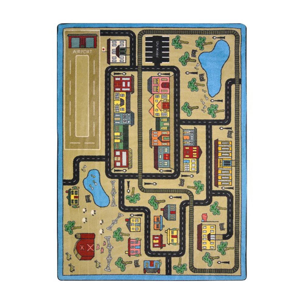 "Kid Essentials - Active Play & Juvenile Tiny Town, 7'8"" x 10'9"", Sandstone"