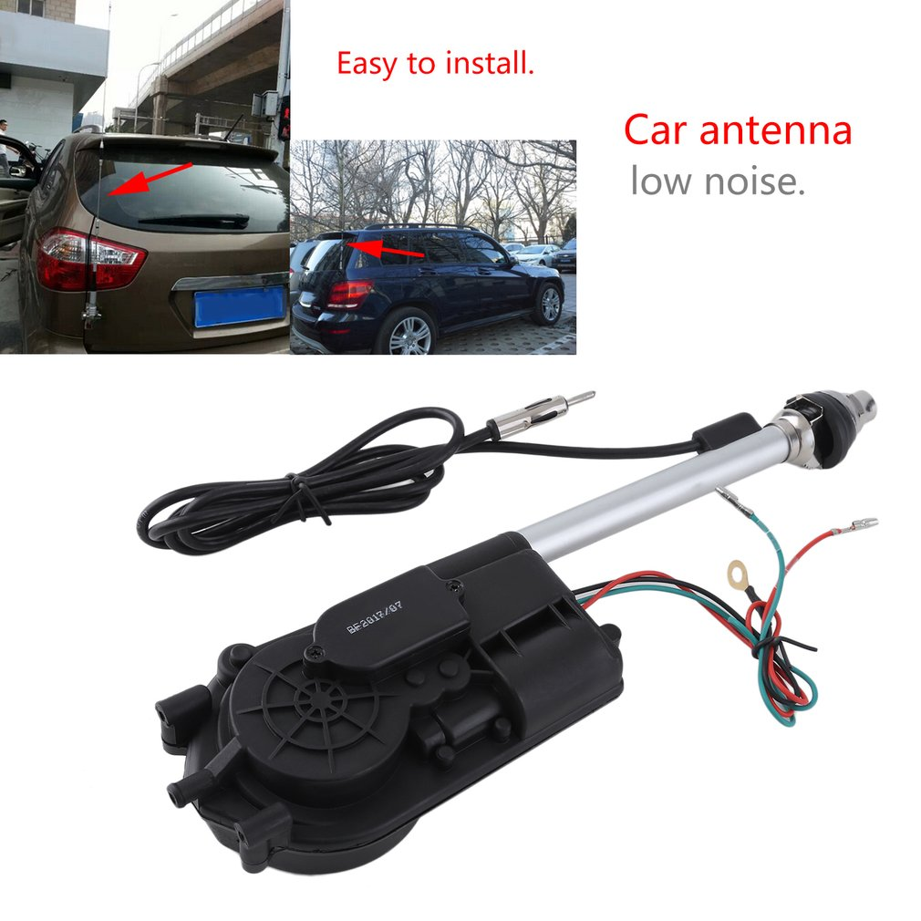 Universal Car Aerial Kit Automatic Booster Power Air Wire SUV AM FM Radio Electric Power Aerial Car Accessories