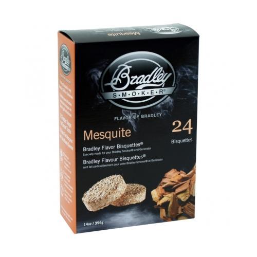 Bradley Flavor Bisquetttes, Mesquite, 24-Pack