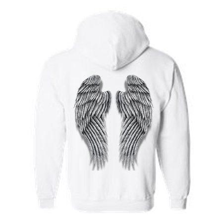 Women's/Unisex Pullover Hoodie Beautiful Fluffy Angel Wings ...