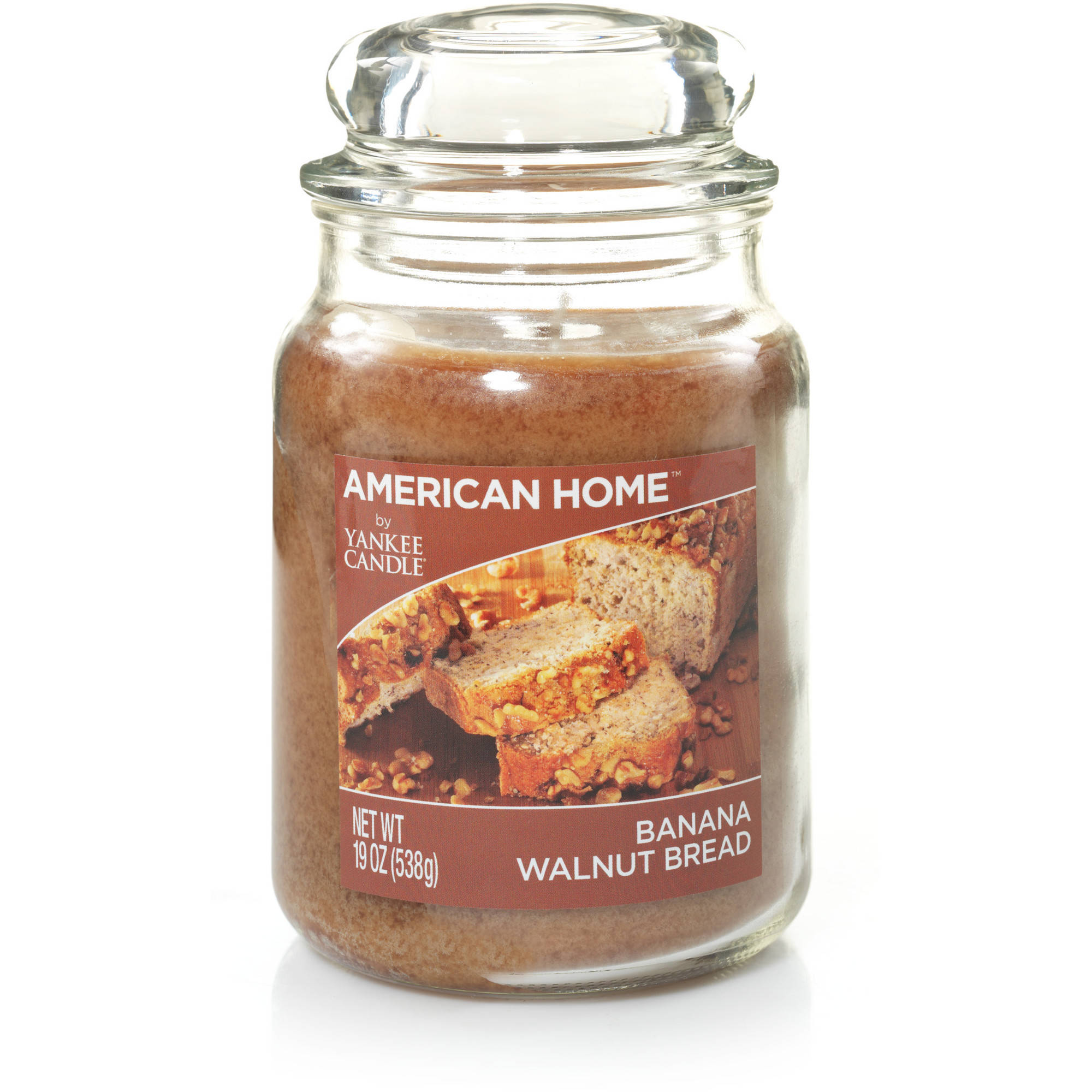 American Home by Yankee Candle Banana Walnut Bread, 19 oz Large Jar