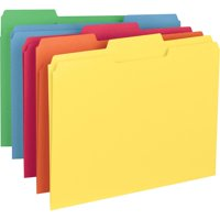 Smead Colored File Folders 1/3-Cut Tabs Asst 100/BX Letter (11943)