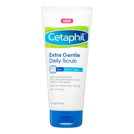 Cetaphil Extra Gentle Daily Scrub, Exfoliating Face Wash For Sensitive and All Skin Types, 8 (Best Type Of Razor For Sensitive Skin)