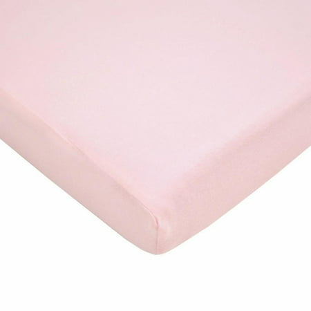 TL Care Jersey Knit Fitted Crib Sheet - Pink