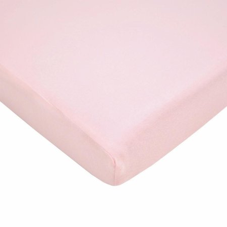 American Baby Company 100% Cotton Supreme Jersey Knit Fitted Crib Sheet for Standard Crib and Toddler Mattresses, Pink