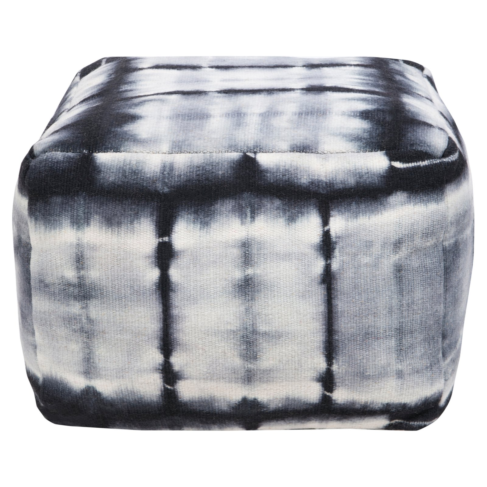 Surya 16 in. Cube Wool Pouf