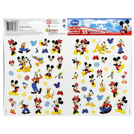 Disney's Mickey and Friends Assorted Character Stickers (Over 50 Stickers) - Mickey Stickers