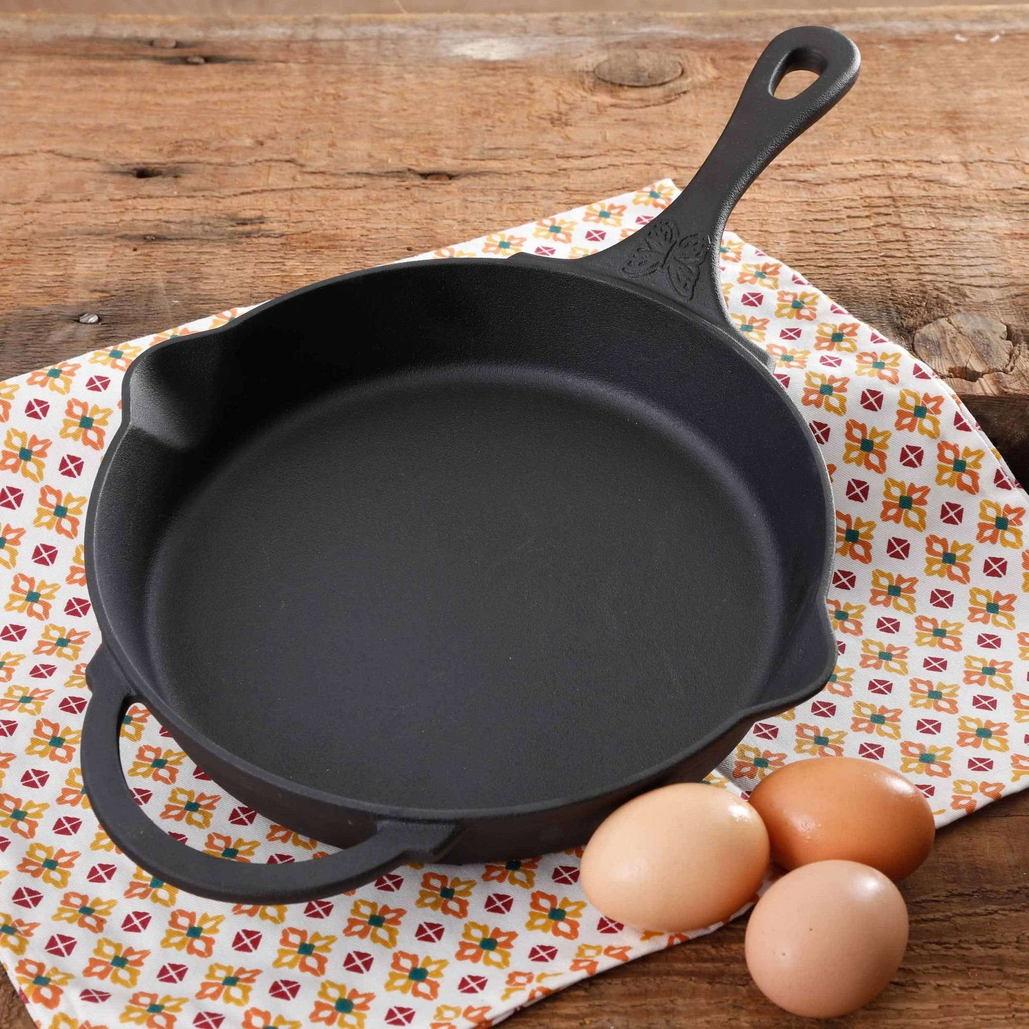 "The Pioneer Woman Timeless Pre-Seasoned Plus 10"" Cast Iron Fry Pan"