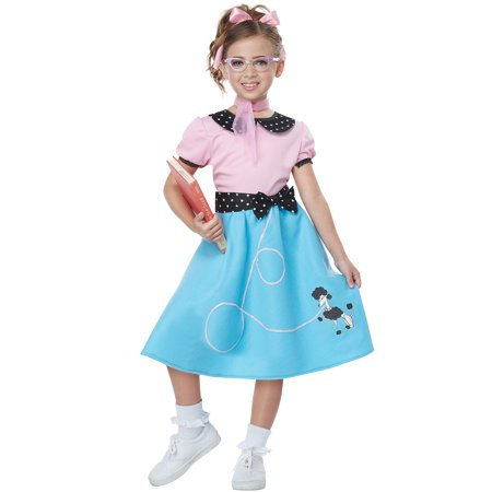 50's Sock Hop Dress Child - Car Hop Costume