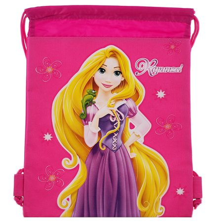 Princess Rapunzel Character Authentic Licensed Hot Pink Drawstring Bag