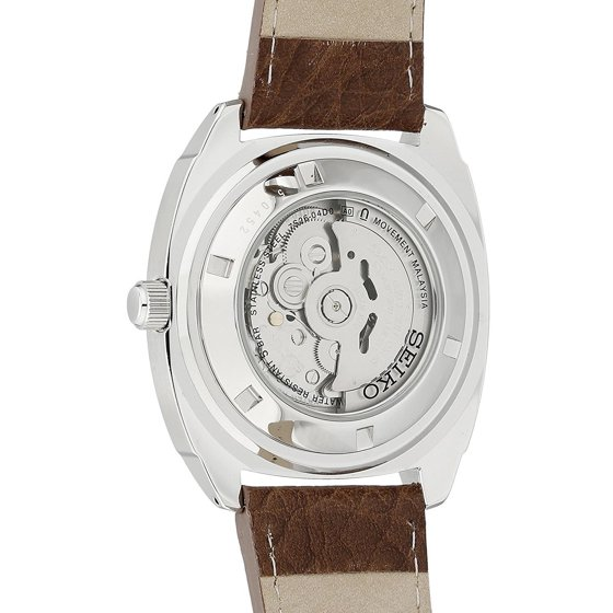 best sneakers 471b9 e4b39 Recraft Luminous Blue Dial Silver Tone Brown Leather Men's Watch SNKN37