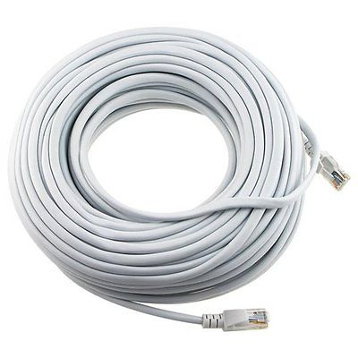 White 150 Ft Foot 45m Cat5e Patch Ethernet Lan Network