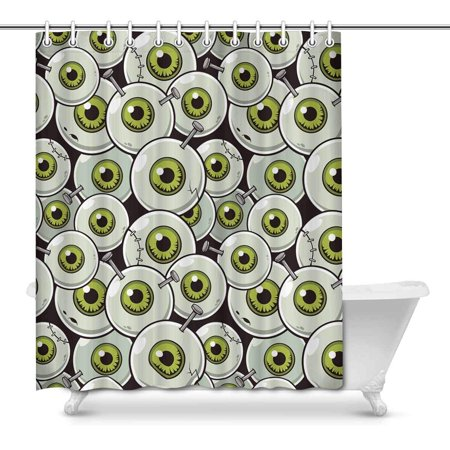 MKHERT Halloween Theme Eyeball Zombie Decor Waterproof Polyester Bathroom Shower Curtain Bath Decorations 66x72 inch