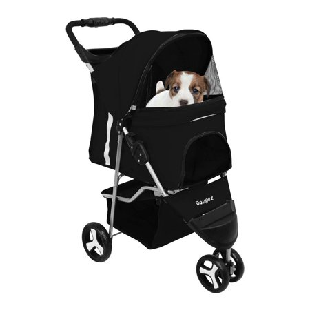 Foldaway Pet Carrier (Magshion Premium Folding Pet Cat Dog Stroller Cart Travel Carrier Up To 30lbs Black)