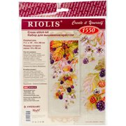 """Blackberry Counted Cross Stitch Kit, 7.5"""" x 19"""", 14-Count"""