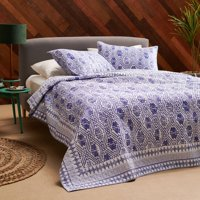 Batik Star 3 Piece Quilt Set by Drew Barrymore Flower Home, Full/Queen