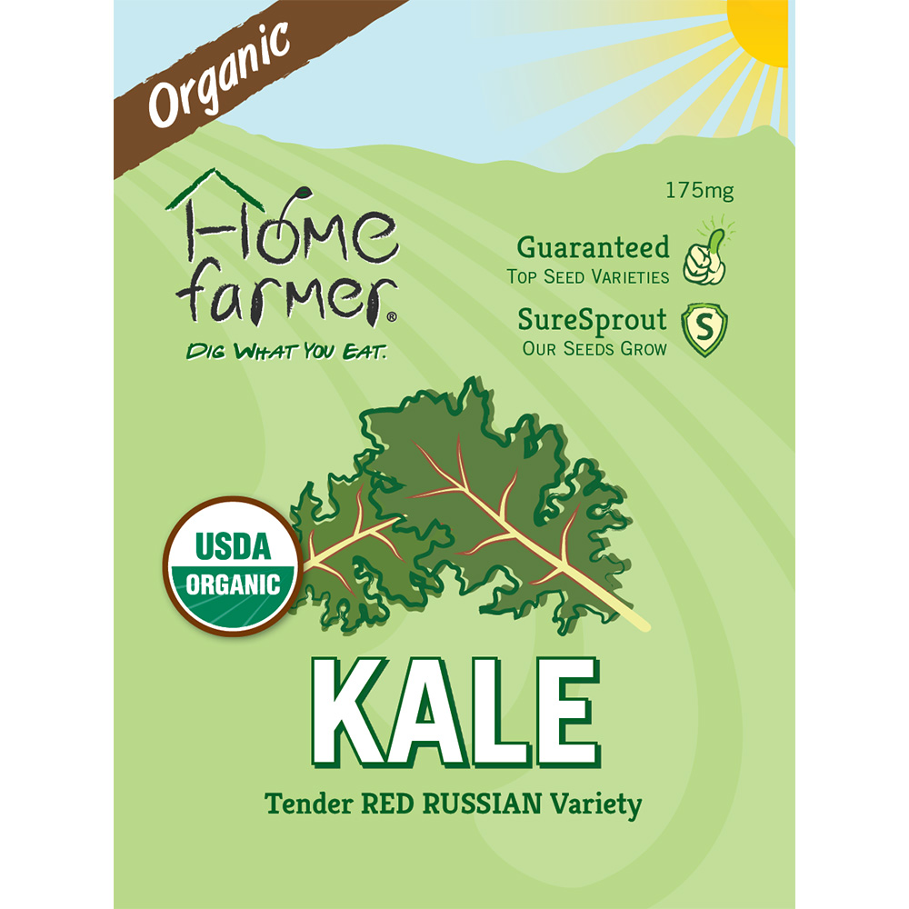 Organic Kale (Red Russian) Seed Packet