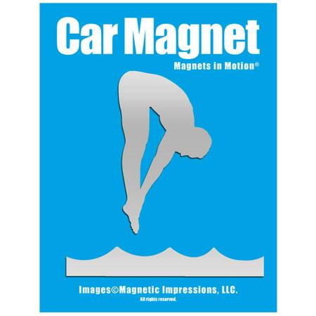 Diver Male Car Magnet Chrome