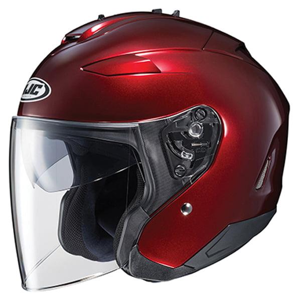 HJC IS-33 II Open Face Helmet Wine Red