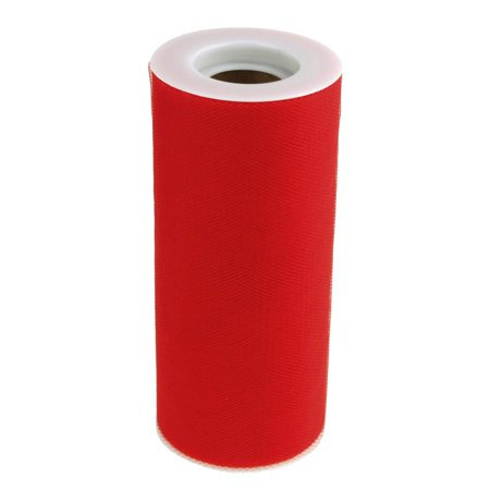 Tulle Spool Roll Fabric Net, 6-Inch, 25 Yards, Red