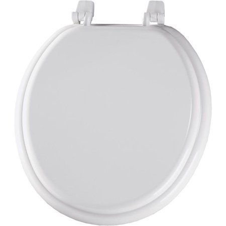 30015 000 Round Closed Front Toilet Seat, White, Fits all manufacturer's round bowls By Bemis (000 Bowls)