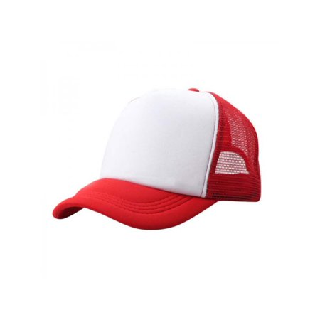 Nicesee Baby Boy Girl Plain Baseball Caps Stitching Trucker Mesh Visor Adjustable Hats