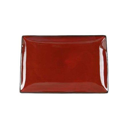 Rectangular Baking Platter - Gibson Elite Soho Lounge 12 inch Rectangular Platter in Red