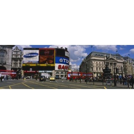 Commercial signs on buildings Piccadilly Circus London England Poster Print