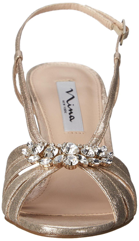 Nina Damenschuhe Viani Peep Toe Special Special Toe Occasion Platform Sandales, , f4dce5