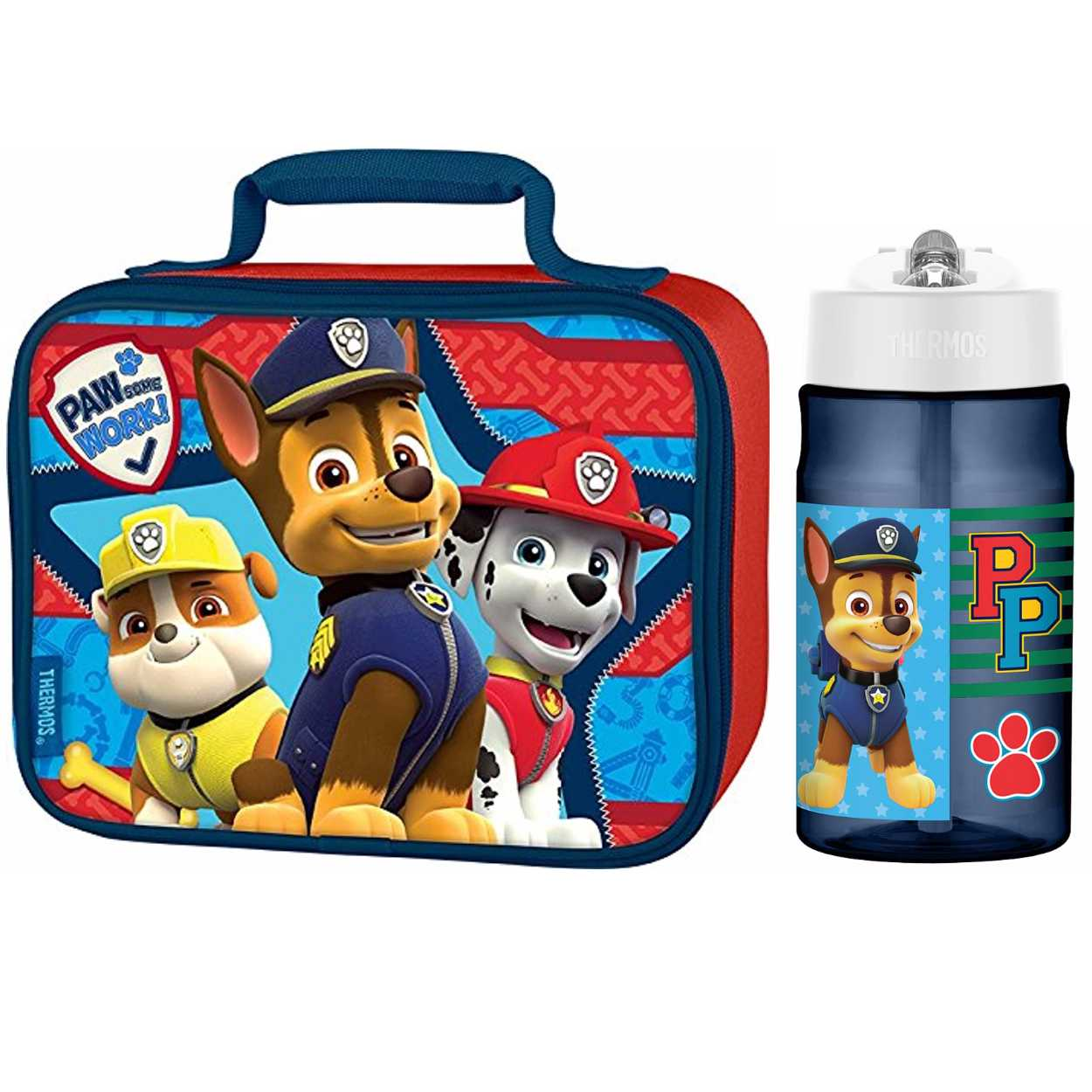 Thermos Paw Patrol 12 Oz Water Bottle w/ Soft Lunch Bag