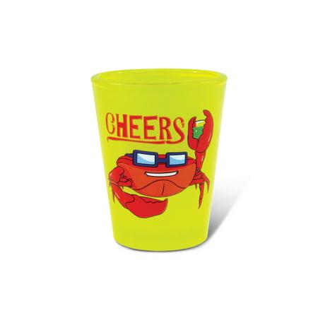 Yellow Neon Shot Glass Crab](Yellow Shots)