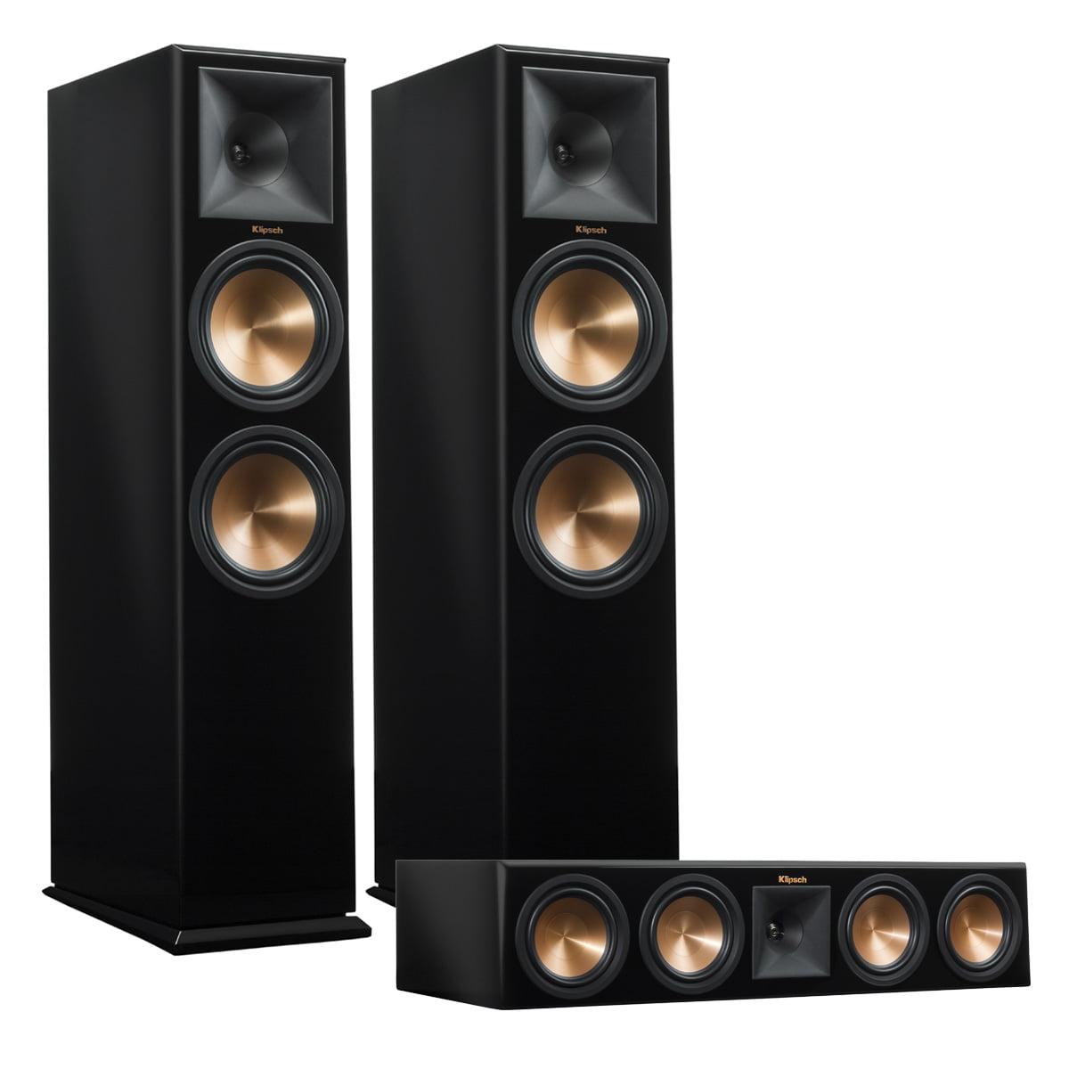 Klipsch RP-280F Reference Premiere Floorstanding Speaker Pair with RP-450C Center Channel Speaker (Piano Black) by Klipsch