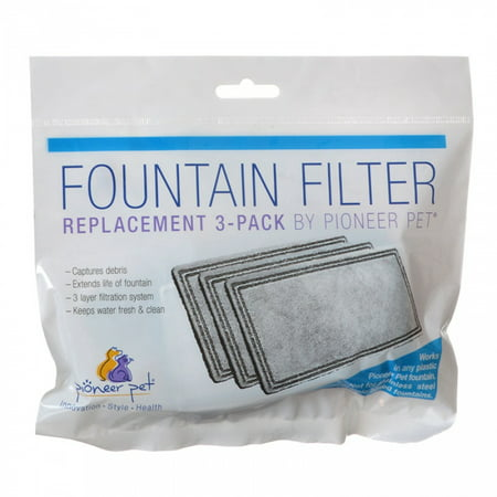 Pioneer Pet Pioneer Replacement Filters for Plastic Raindrop and Fung Shui Fountains 3 Pack
