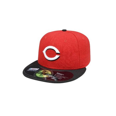 uk availability 77caa 6da8b MLB Cincinnati Reds Authentic On Field Road 59FIFTY Cap Red Black-7 1  ...