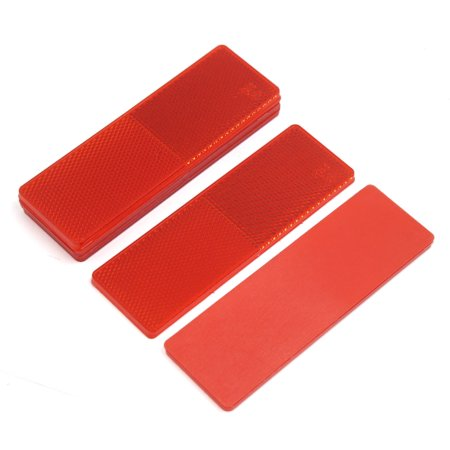Automotive Truck Car Night Bumper Mount Red Reflector without Screw Holes 5PCS