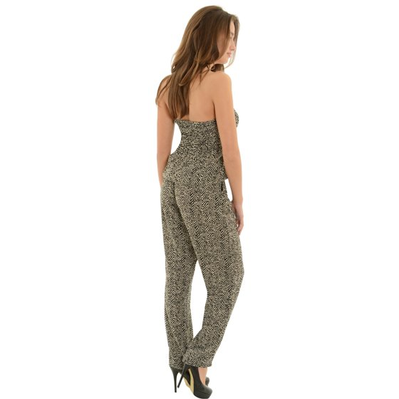 e371d437d759 India B - Womens Long Pants Romper with Pockets Strapless Jumpsuit ...